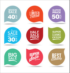 collection super sale stickers and tags vector image