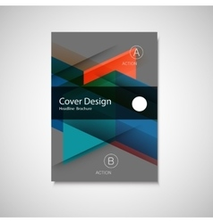 Cover design for Annual Report Catalog or vector