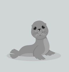 cute sea lion cartoon vector image