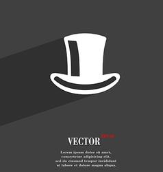 cylinder hat icon symbol Flat modern web design vector image