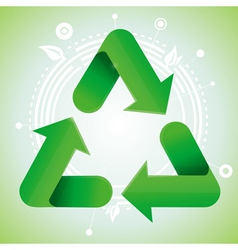 ecology concept - recycle sign vector image
