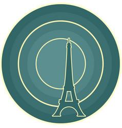 Eiffel tower in paris gradient radiant backdrop vector