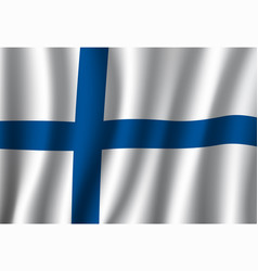 Finland flag finnish nordic cross national banner vector