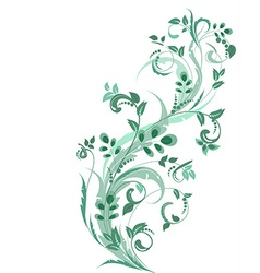 floral ornament for your design vector image
