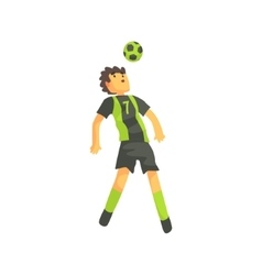 Football Player Getting Ball On The Head Isolated vector