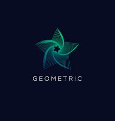 Geometric line art minimal logo design gradient vector