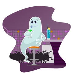 Ghost in the bar vector