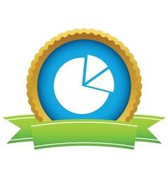 Gold pie chart logo vector