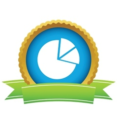 Gold pie chart logo vector image