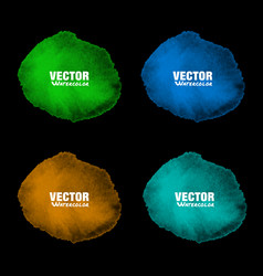 hand drawn colorful watercolor background set vector image
