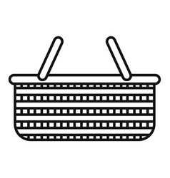 Handle wicker icon outline style vector