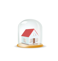 house covered with a glass cover vector image
