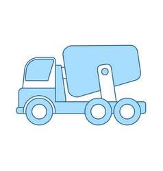 Icon of concrete mixer truck vector