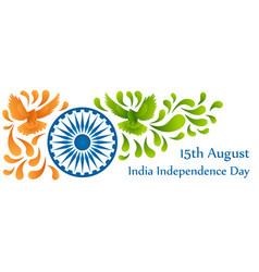 India independance day 15th august colorful vector
