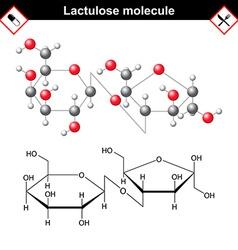 Lactulose molecular structure vector