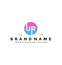 Letter ur logo design vector