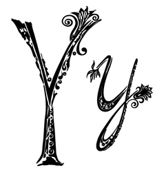letter Y y vector image