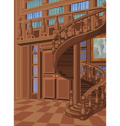 Library in Princess Palace vector