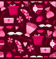 lovely seamless pattern for valentines day vector image