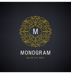 Luxury monogram Vintage logo icon vector image