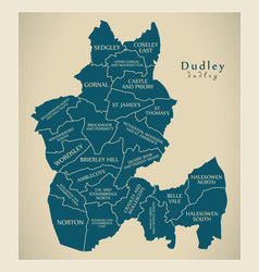 Modern city map - dudley city of england with vector