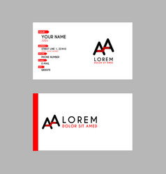 modern creative business card template with aa vector image