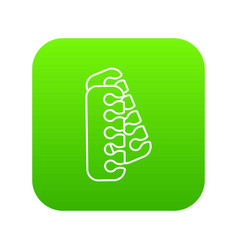 nail foot tool separator icon green vector image