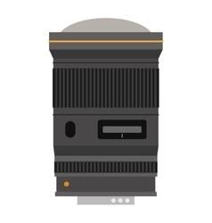 Photo optic lenses icon vector