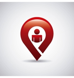Pin location design vector