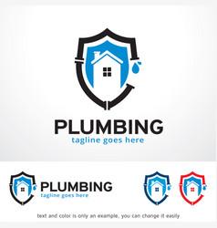 plumbing logo template design vector image
