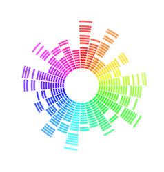 radial sound wave music equalizer dynamic volume vector image