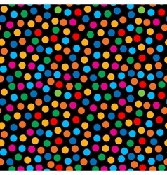 Rainbow bright dots seamless pattern vector