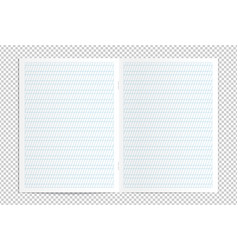 realistic blank calligraphy practice copy book vector image