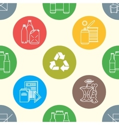 Recycle waste seamless pattern vector