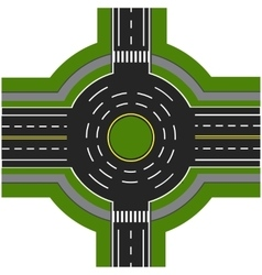 Road infographics road interchange roundabouts vector