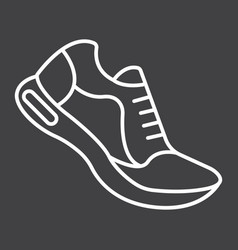 Running shoes line icon fitness and sport vector
