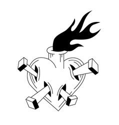 sacred heart jesus vector image