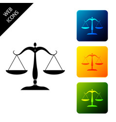 scales justice icon isolated on white vector image