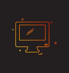 screen icon design vector image