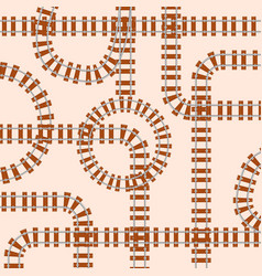 Seamless pattern with rails vector