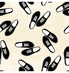 Seamless sneakers background pattern vector