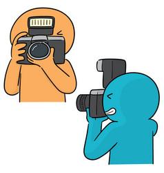 Set of photographers vector
