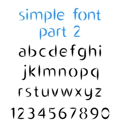 Simple font the second part Lowercase letters vector image