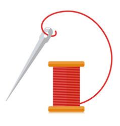 Spool thread and needle vector