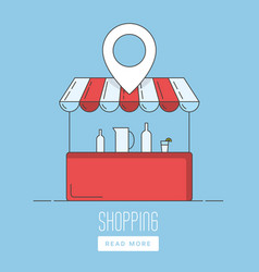 Supermarket location icon vector