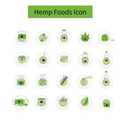 template hemp icon 2 vector image