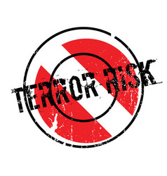 Terror risk rubber stamp vector