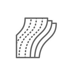 three-layer toilet paper napkin line icon vector image