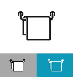 Towel on a hanger black silhouette icon vector