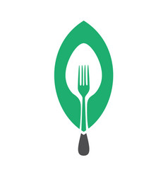 vegan food concept design vector image